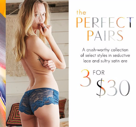 Select Undies 3 for $30