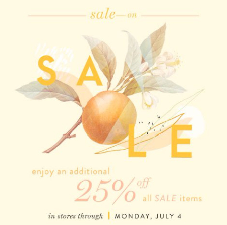 Additional 25% Off All Sale Items