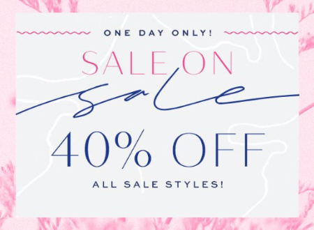 40% Off All Sale Styles