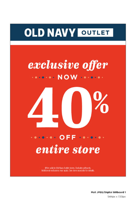 40% off entire store excluding clearance