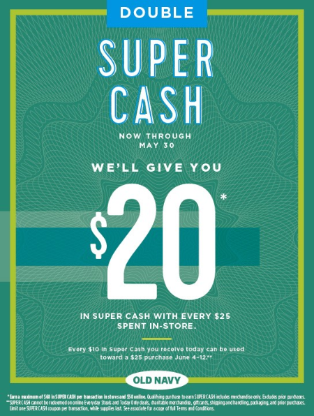 Double Super Cash Starts May 25th!