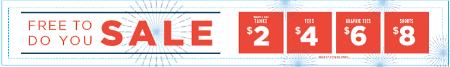 $2 $4 $6 $8 summer sale