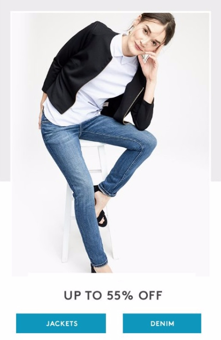 Up to 55% Off Jackets and Denim