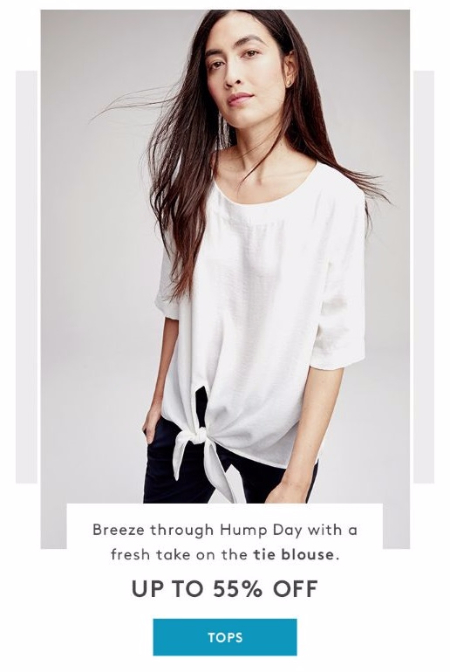 Up to 55% Off Tops