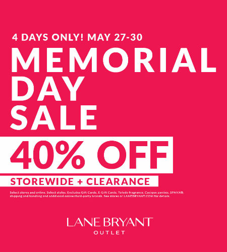 MEMORIAL DAY SALE 40% OFF STOREWIDE & CLEARANCE