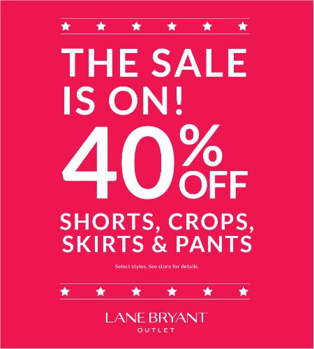 40% OFF SHORTS, CROPS, SKIRTS & PANTS