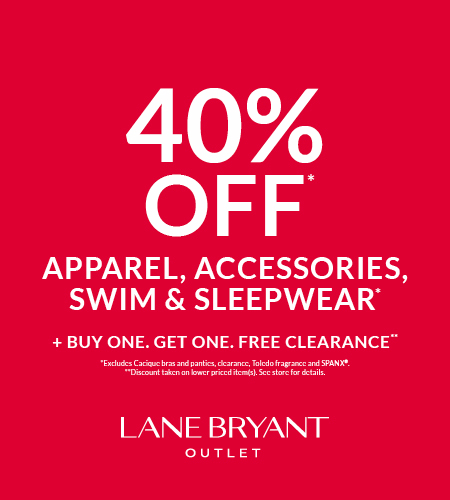 40% OFF APPAREL, ACCESSORIES, SWIM & SLEEPWEAR*