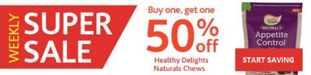BOGO 50% Off Healthy Delights Naturals Chew