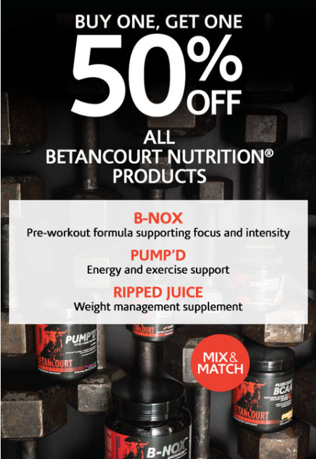 BOGO 50% Off All Betacourt Nutrition Products