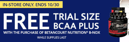 Free Trial Size BCCA Plus with Purchase of Betancourt Nutrition B-Nox