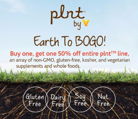 BOGO 50% Off plnt non-GMO Herbal Supplements