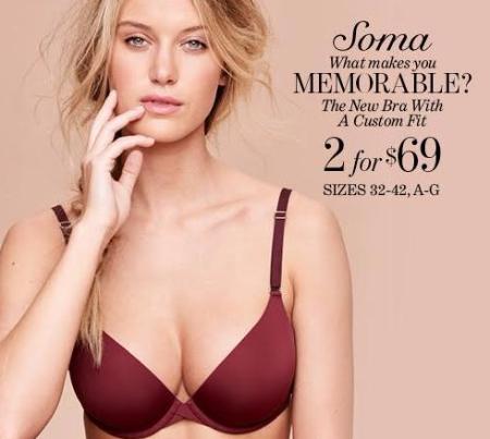 New Memorable Bra - 2/$69