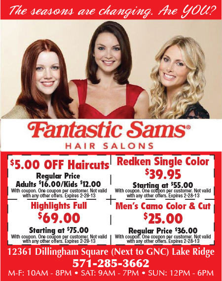 Fantastic sams discount coupons