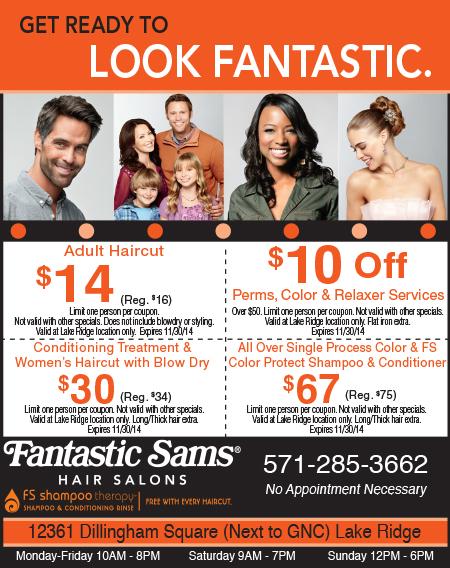Fantastic sams coupons huntington wv