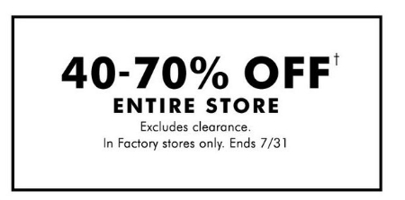 40-70% Off Everything