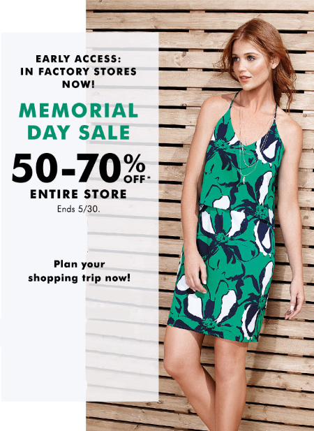 50-70% Off Memorial Day Sale