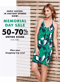 Memorial Day Sale 50-70 Off Entire Store!