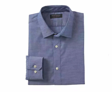 Standard-Fit Non-Iron Chambray Shirt