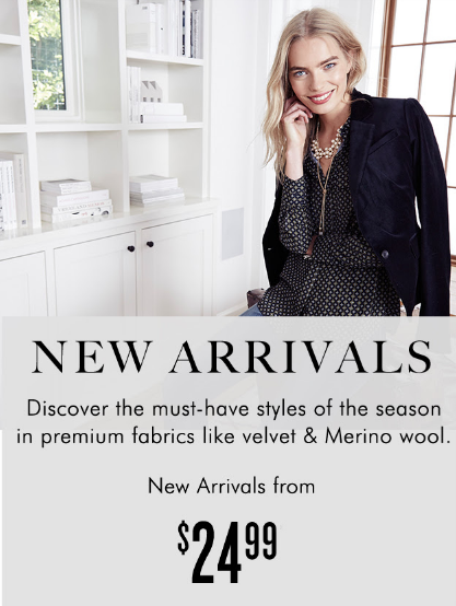 New Arrivals from $24.99