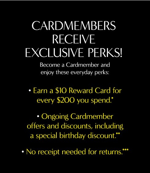 Become A Cardmember Today At Banana Republic Factory Store