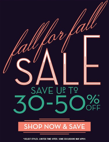 FALL FOR FALL SALE!