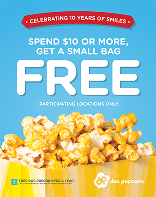 Celebrate With A Free Bag Of Popcorn At Doc Popcorn