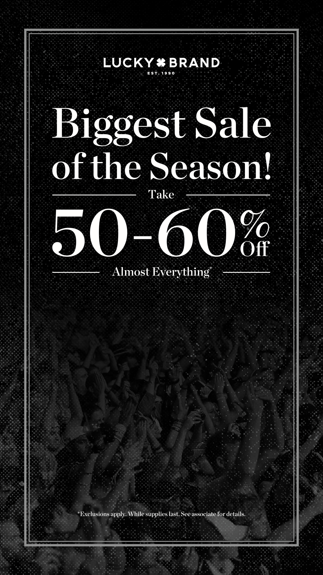 50-60% Off Almost Everything!