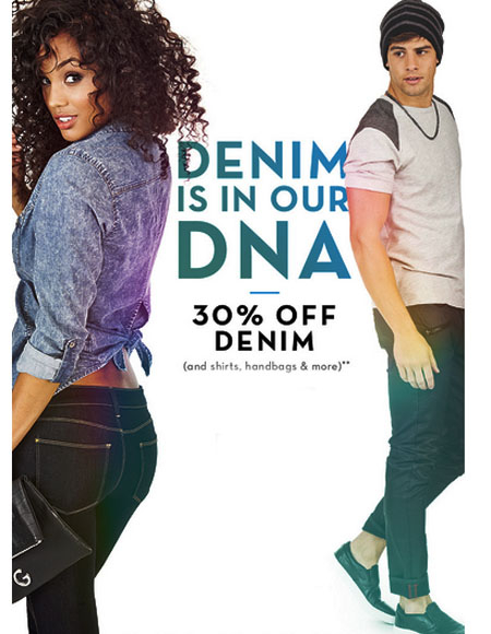 30% Off Denim at G by GUESS