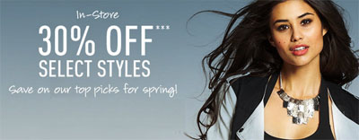 30% Off Select Styles at G by GUESS