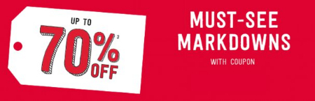 Markdowns up to 70% Off