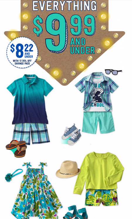 Everything $9.99 & Under at Crazy 8