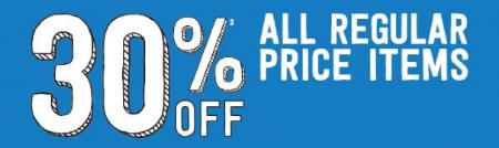 30% Off All Regular Price Items