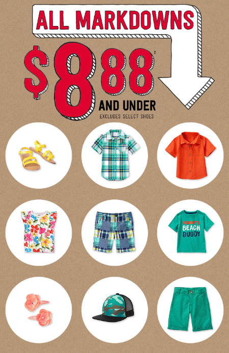 All Markdowns $8.88 & Under