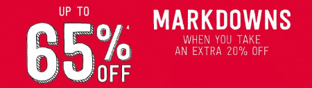 Up to 65% Off Markdowns