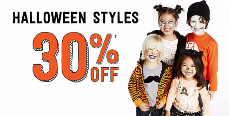 30% Off Halloween Styles at Crazy 8