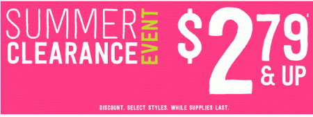 Summer Clearance Event at Crazy 8