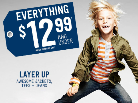 Everything $12.99 and Under at Crazy 8