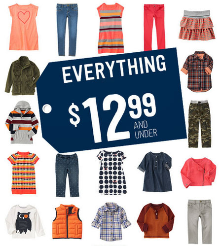 Everything $12.99 & Under at Crazy 8