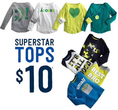 $10 Superstar Tops at Crazy 8