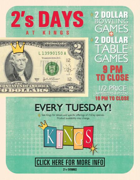 $2 Tuesdays!