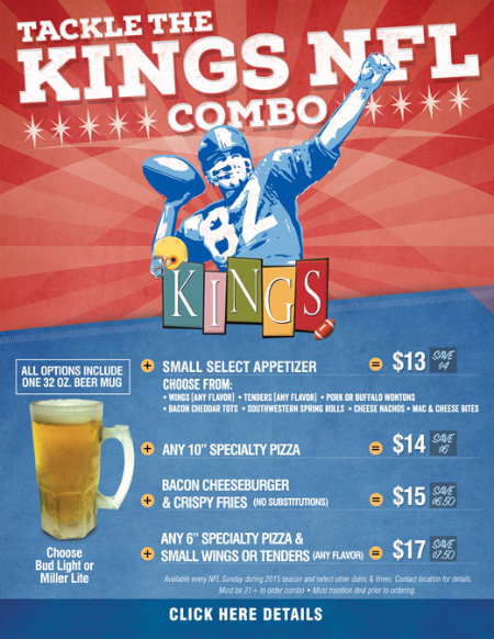 NFL Game Day Specials