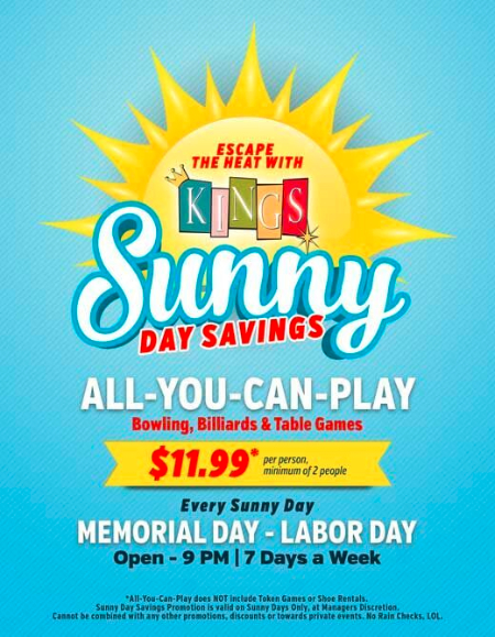 Sunny Day Savings
