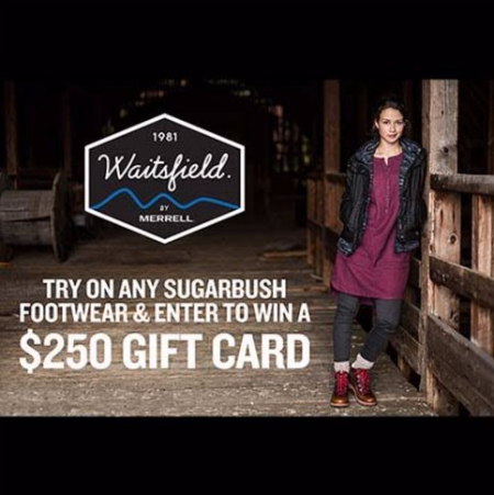 TRY ON ANY SUGARBUSH FOOTWEAR & ENTER TO WIN A $250 GIFT CARD