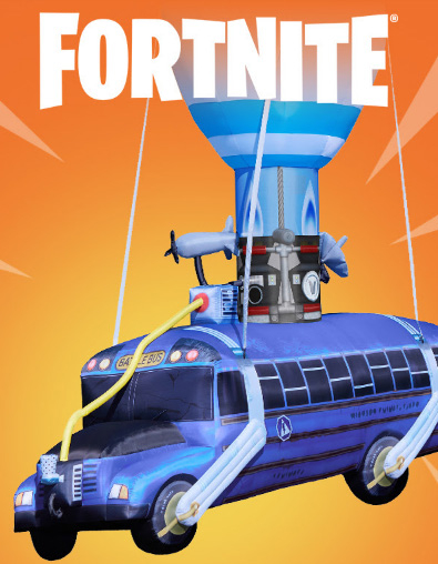 hurry and shop our official fortnite 175 ft inflatable battle bus in stores today
