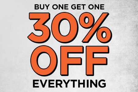 BOGO 30% Off Everything