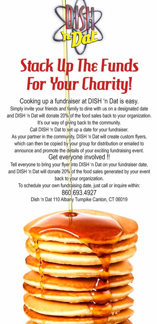 Fundraising at Dish 'N Dat