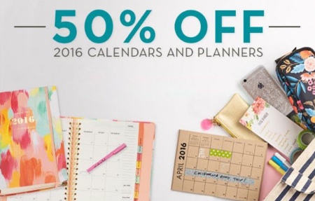 50% Off 2016 Calendars & Planners