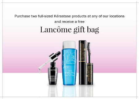 Free Lancome Bag with Kerastase Purchase