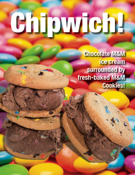 Chocolate M&M Chipwich