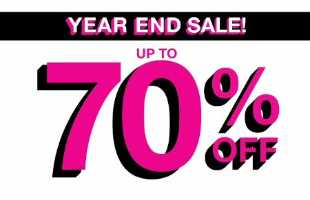 Year End Sale! Up to 70% Off @A'GACI!